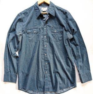 WRANGLER Wrancher pearl snap long sleeve shirt